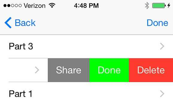 UITableViewCell Action Swiping in iOS8 and Swift - timbroder com